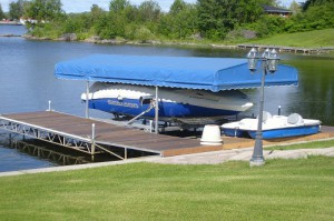 Towered boat lift